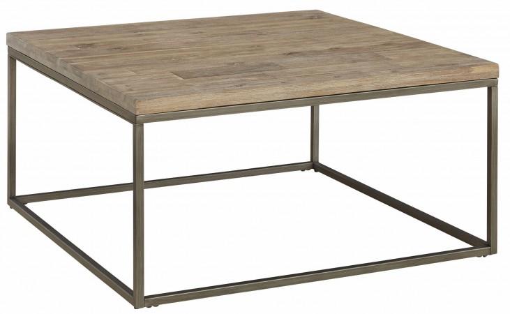 Alana Acacia Wood Top Square Coffee Table