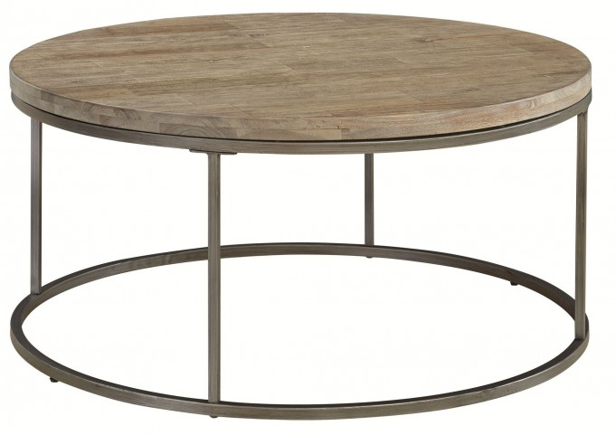 Alana Acacia Wood Top Round Coffee Table