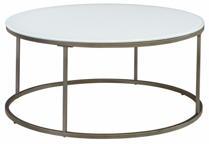 Alana Frosted Glass Top Round Coffee Table