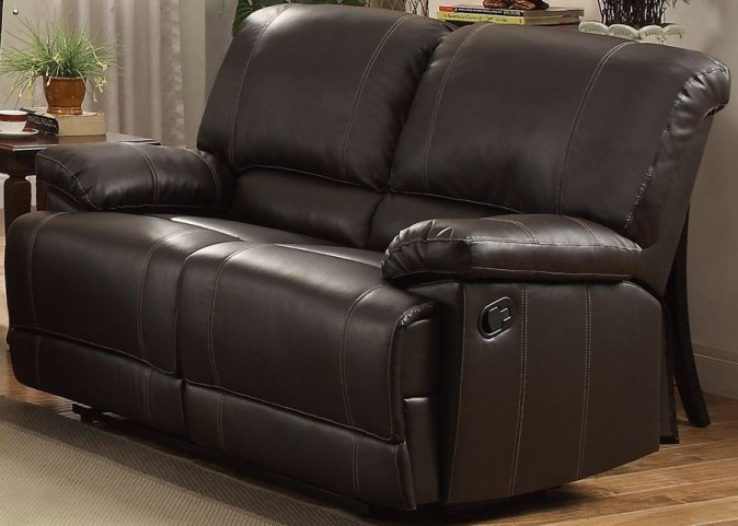 Cassville Dark Brown Double Reclining Loveseat