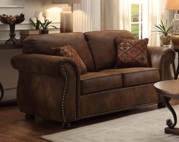 Corvallis Brown Loveseat