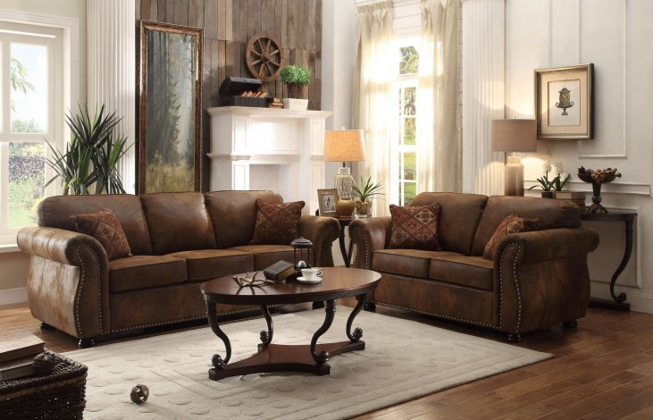 Corvallis Brown Living Room Set