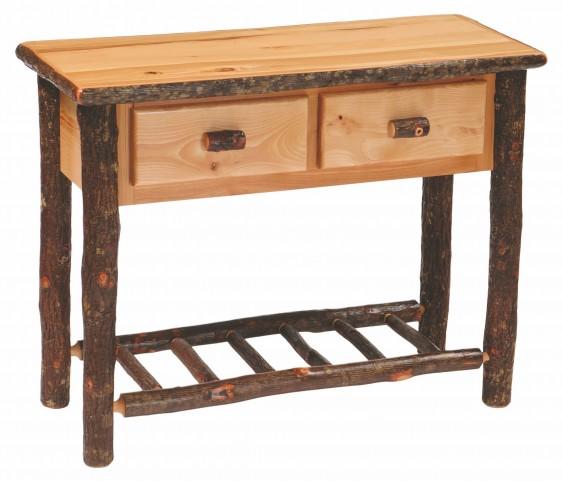 Hickory 2 Drawer Sofa Table
