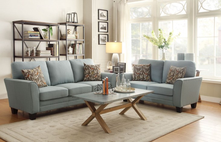 Adair Teal Living Room Set