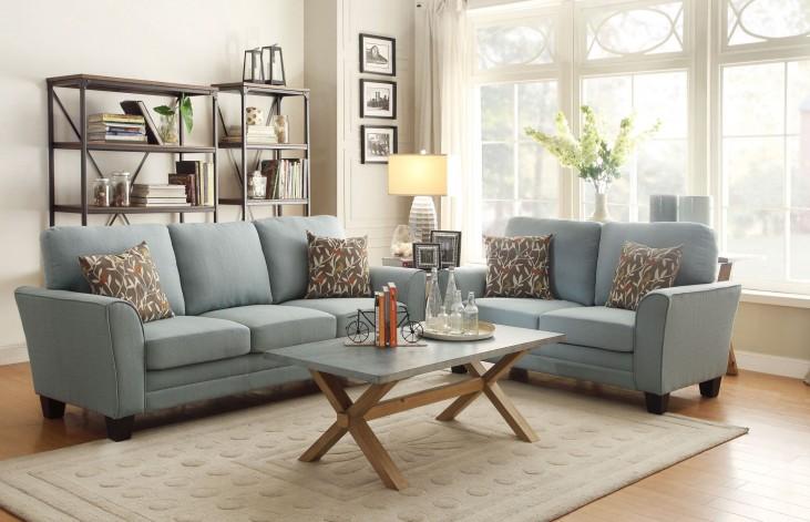 Adair Teal Living Room Set