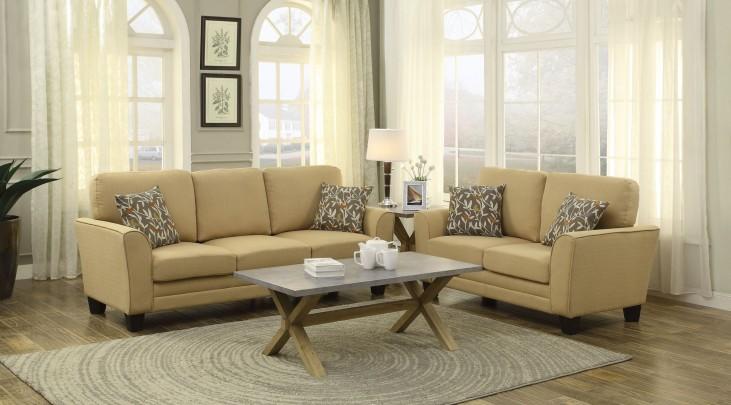 Adair Yellow Living Room Set
