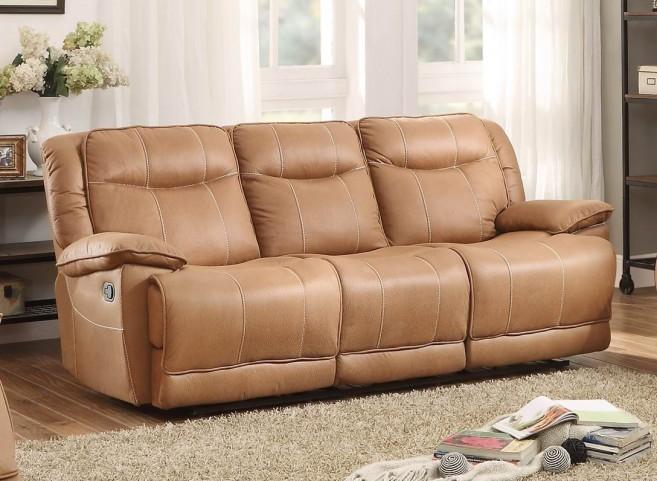 Wasola Brown Triple Reclining Sofa