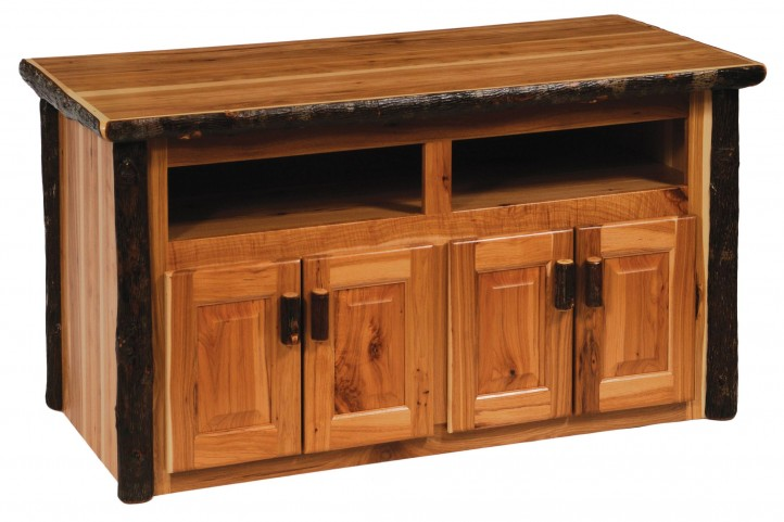Traditional Hickory Widescreen TV Stand