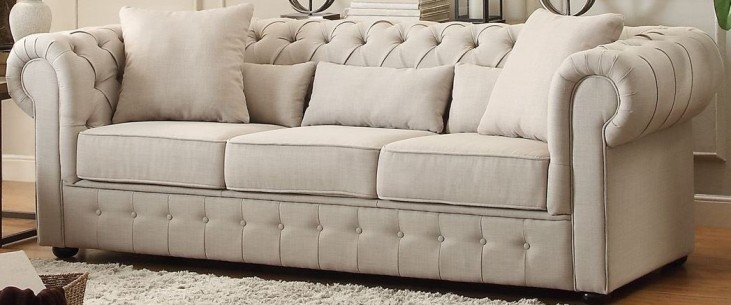 Savonburg White Sofa