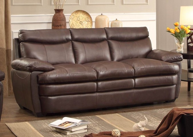 Rozel Dark Brown Sofa