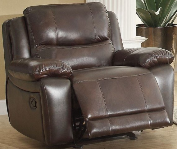 Allenwood Dark Brown Glider Reclining Chair