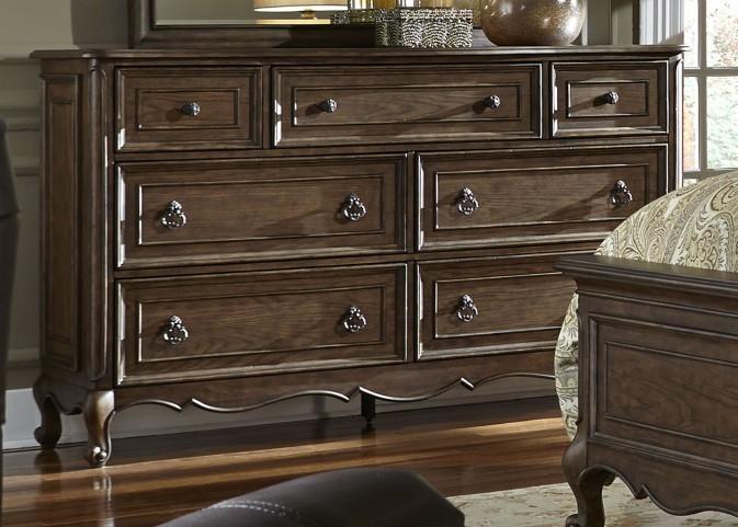 Lorraine Antique Oak 7 Drawer Dresser