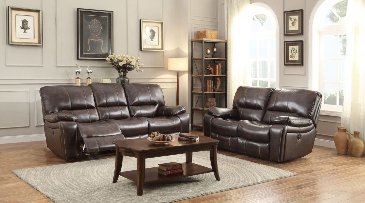Timkin Dark Brown Power Double Reclining Living Room Set