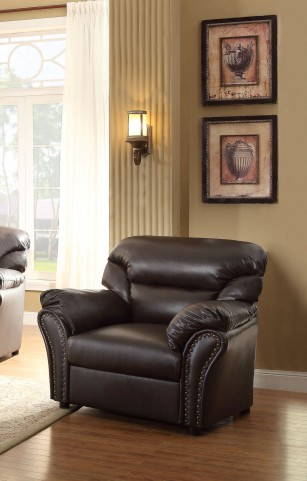 Stinett Dark Brown Chair