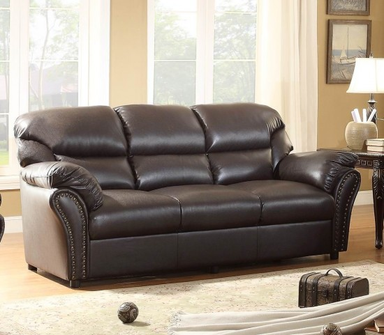 Stinett Dark Brown Sofa