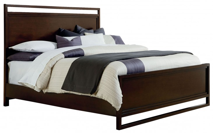 Manhattan Deep Coffee King Panel Bed