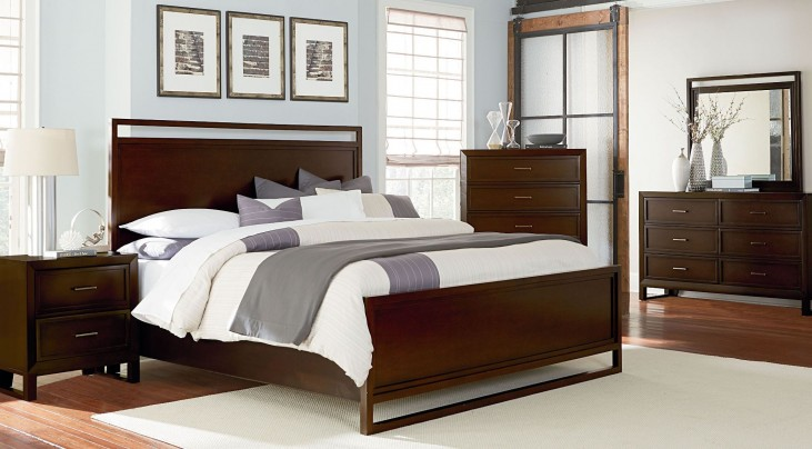Manhattan Deep Coffee Panel Bedroom Set
