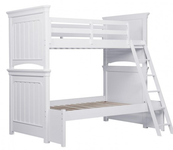 SummerTime Fresh White Twin over Full Bunk Bed