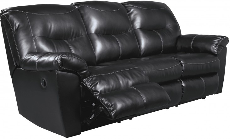 Kilzer DuraBlend Black Reclining Sofa