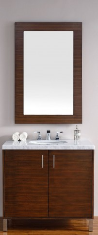 "Metropolitan 36"" American Walnut Single 4Cm Top Vanity"