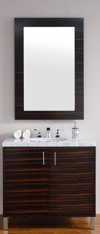 "Metropolitan 36"" Macassar Ebony Single 4CM Top Vanity Set"