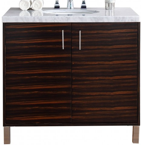 "Metropolitan 36"" Macassar Ebony Single 4Cm Top Vanity"