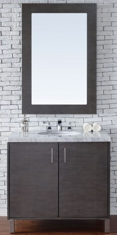 "Metropolitan 36"" Silver Oak Single 4CM Top Vanity Set"
