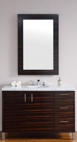 "Metropolitan 48"" Macassar Ebony Single 4CM Top Vanity Set"