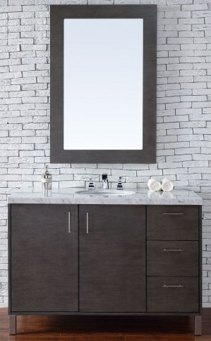 "Metropolitan 48"" Silver Oak Single 4CM Top Vanity Set"
