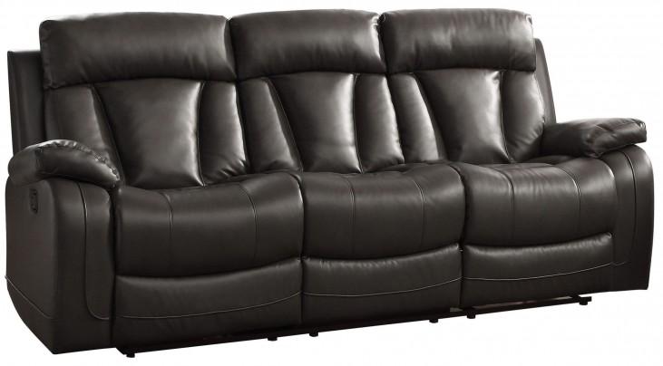 Ackerman Black Double Reclining Sofa