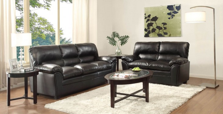 Talon Black Living Room Set