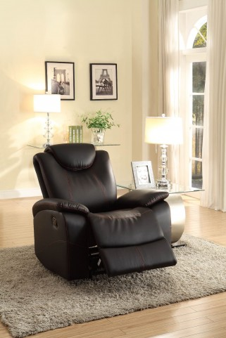 Talbot Black Glider Reclining Chair