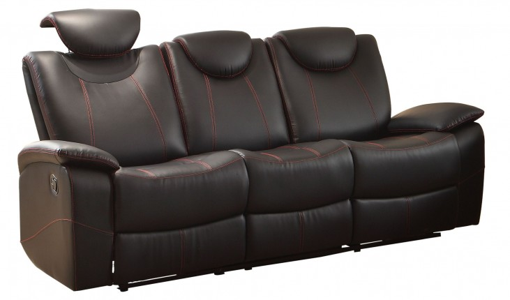 Talbot Black Double Reclining Sofa