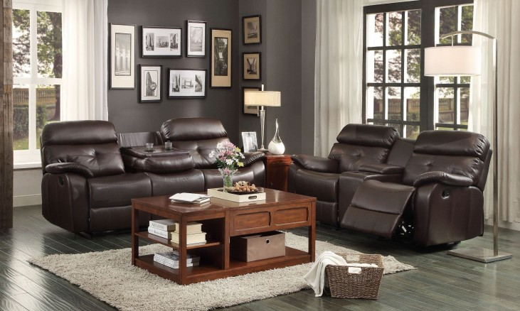 Evana Double Reclining Living Room Set