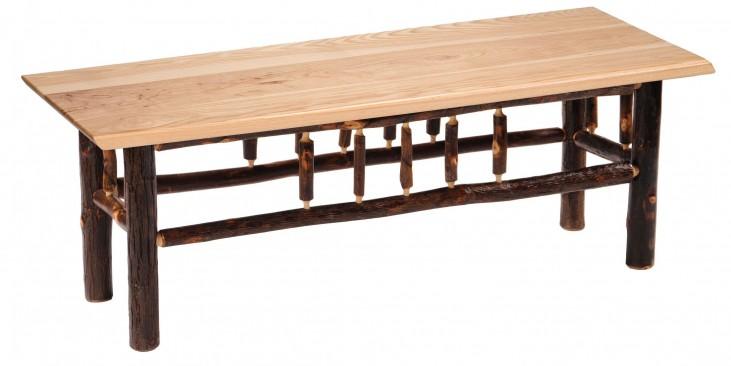"Hickory 60"" Hickory Seat Bench"