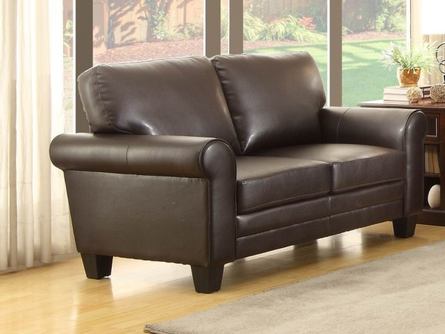 Hume Dark Brown Loveseat
