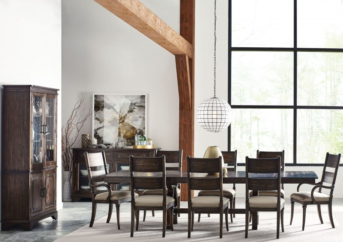 Wildfire Ember Extendable Trestle Dining Room Set