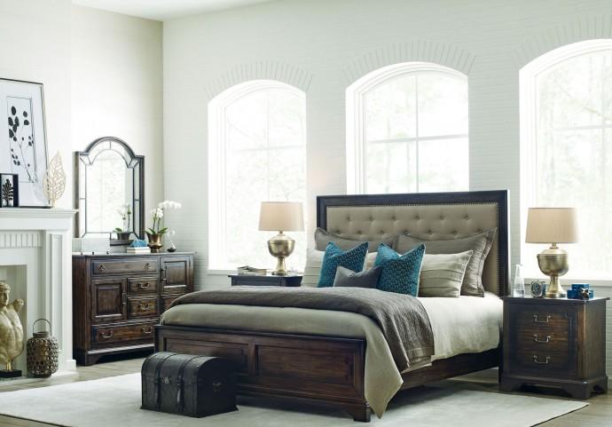Wildfire Ember Upholstered Panel Bedroom Set
