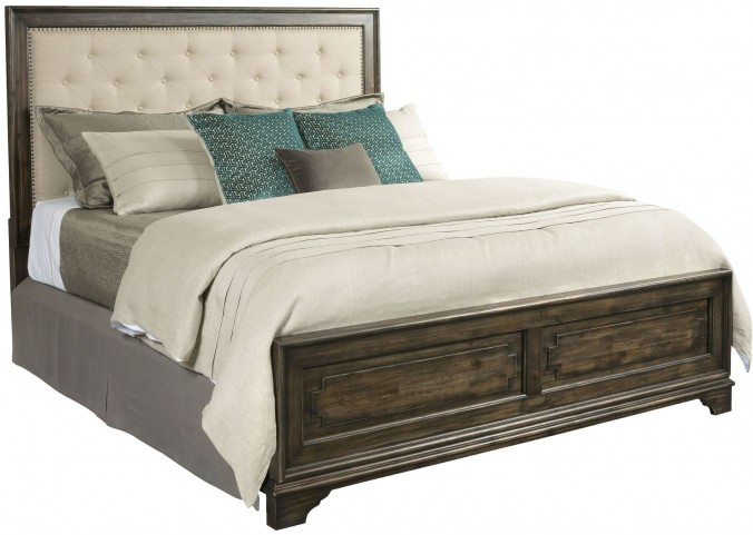 Wildfire Ember King Upholstered Panel Bed