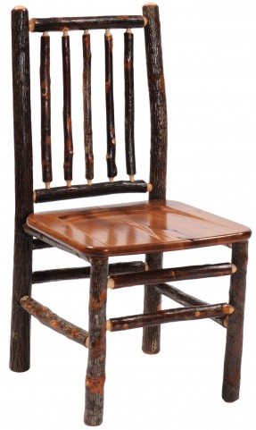 Hickory Rustic Maple Seat Spoke Back Side Chair