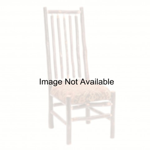 Hickory Rustic Alder Seat High Back Spoke Back Side Chair