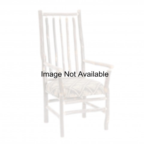 Hickory Espresso Seat High Back Spoke Back Arm Chair