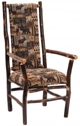 Hickory Standard Fabric High Back Upholstered Back Arm Chair