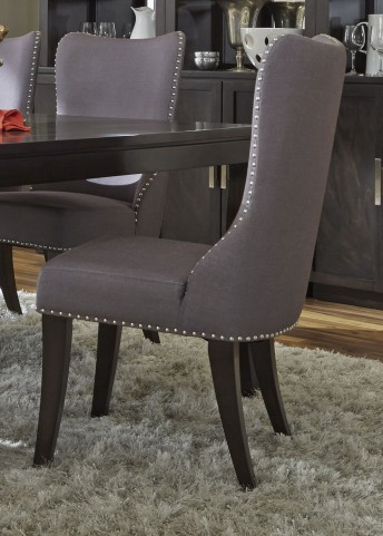 Platinum Upholstered Grey Side Chair
