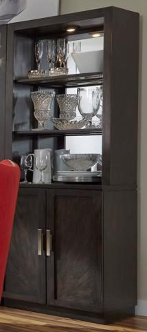 Platinum Bunching Shelf Curio with Hutch