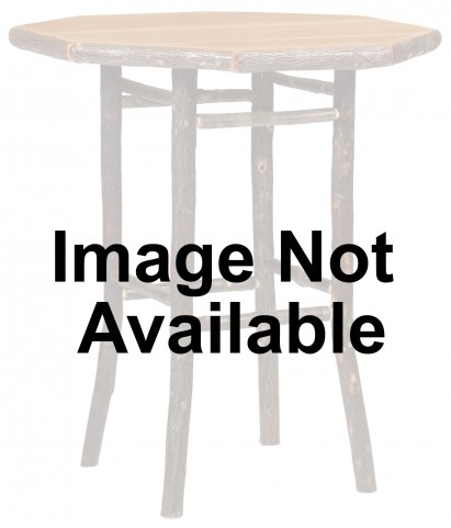 "Hickory 40"" Rustic Alder Round Pub Standard Table"