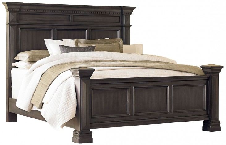 Garrison Soft Grey King Panel Bed