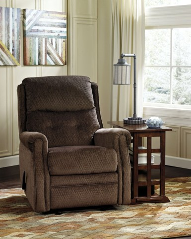 Meadowbark Chocolate Glider Recliner