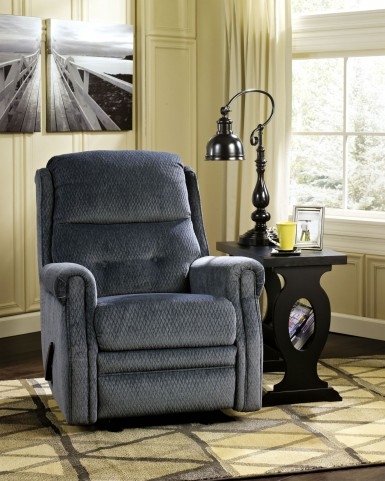 Meadowbark Navy Glider Recliner