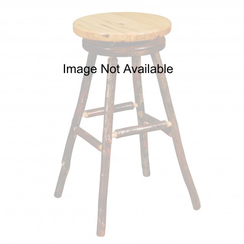 "Hickory Rustic Alder 24"" Swivel Round Counter Stool"